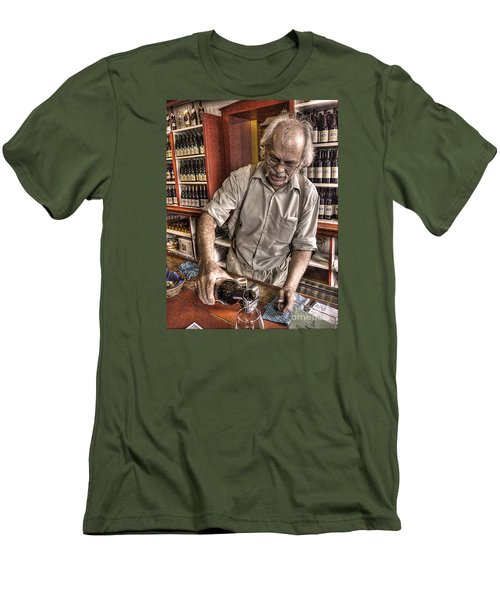 Men's T-Shirt (Slim Fit) featuring the photograph Wine I Know Was Made To Drink by William Fields