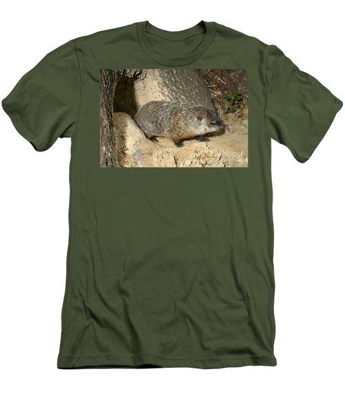 Woodchuck Men's T-Shirt (Slim Fit) by Ted Kinsman