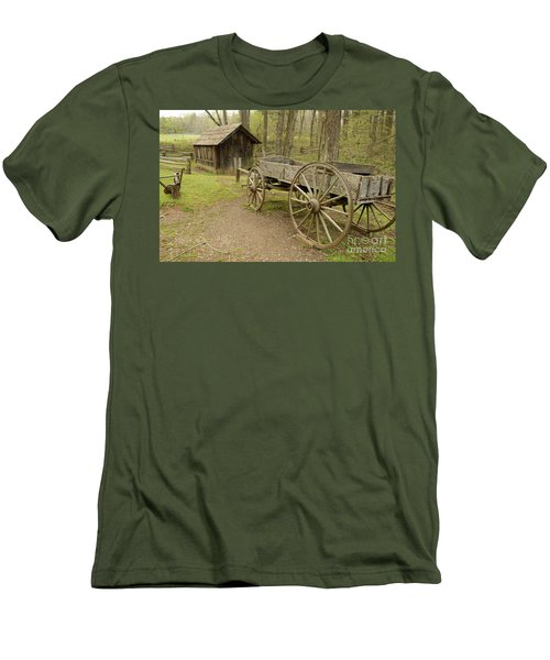 Wooden Wagon Men's T-Shirt (Athletic Fit)