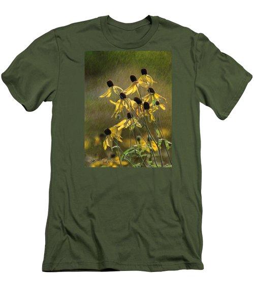 Yellow Coneflowers Men's T-Shirt (Slim Fit) by Bruce Morrison