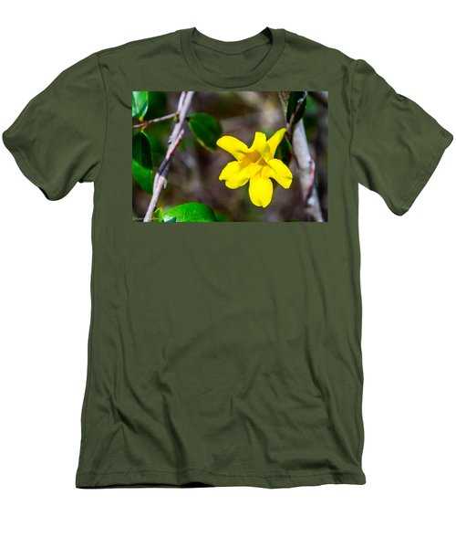 Men's T-Shirt (Slim Fit) featuring the photograph Yellow by Shannon Harrington