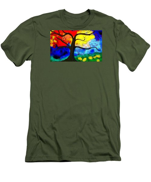 Before The Bloom Men's T-Shirt (Slim Fit) by Patricia Arroyo