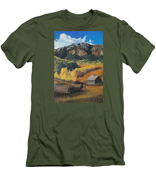 I Will Lift Up My Eyes To The Hills Autumn Nostalgia  Wilson Peak Colorado Men's T-Shirt (Athletic Fit)