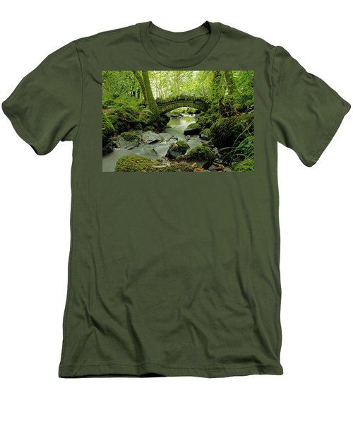 Kilfane Glen  Men's T-Shirt (Slim Fit) by Martina Fagan