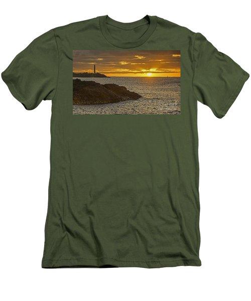 Ninini Point Lighthouse Sunrise Men's T-Shirt (Athletic Fit)