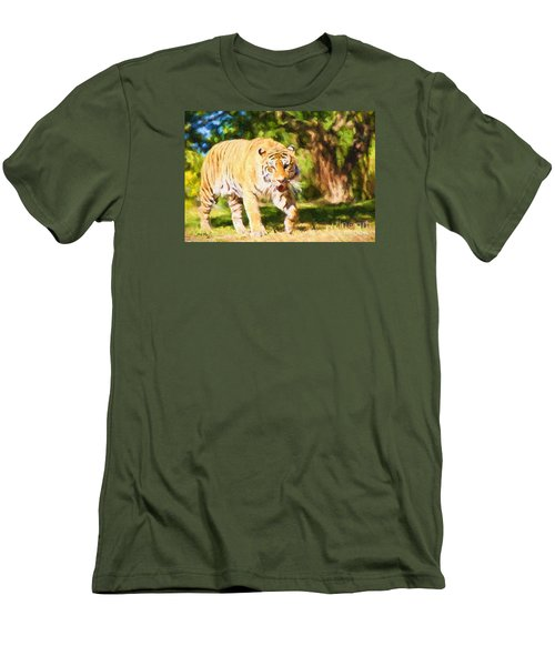 Men's T-Shirt (Slim Fit) featuring the painting  On The Prowl by Judy Kay