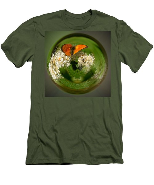Men's T-Shirt (Slim Fit) featuring the photograph  Scarce Copper 3 by Jouko Lehto