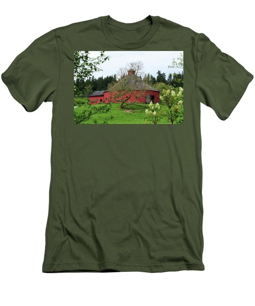 Spring At The Round Barn Men's T-Shirt (Athletic Fit)