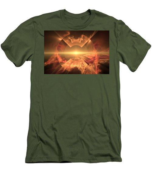 Men's T-Shirt (Slim Fit) featuring the digital art  Supernova  by Svetlana Nikolova