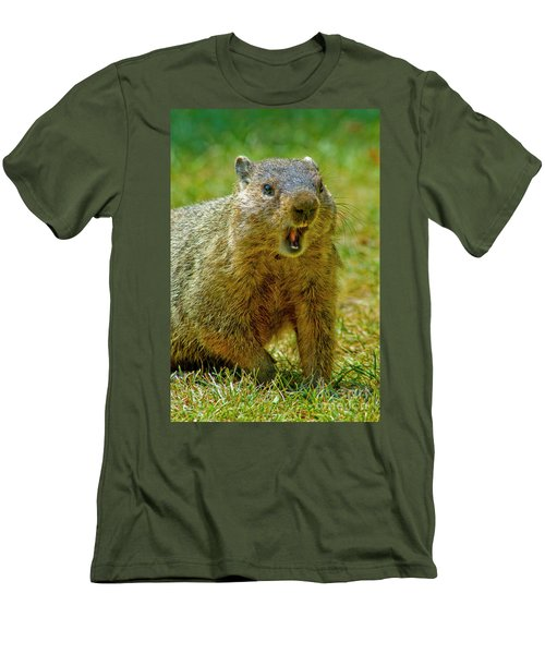 A Hungry Fellow  Men's T-Shirt (Slim Fit) by Paul W Faust - Impressions of Light