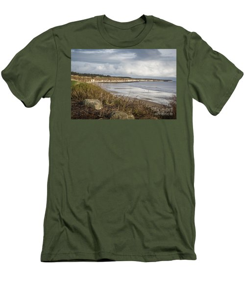 Across The Bay Men's T-Shirt (Slim Fit) by David  Hollingworth