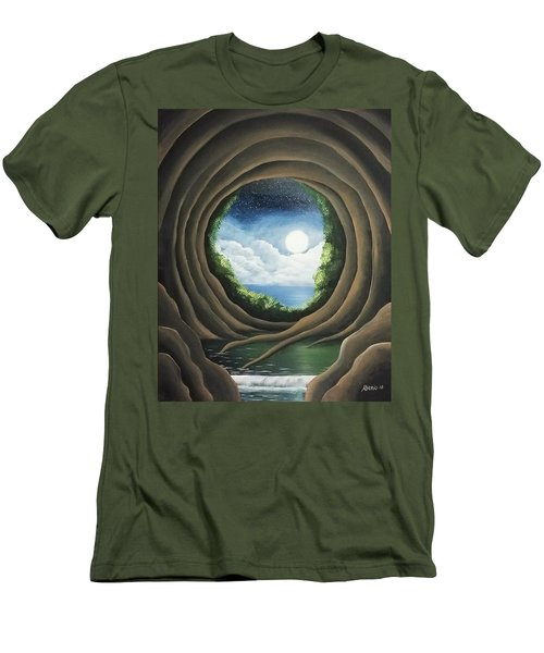 Men's T-Shirt (Slim Fit) featuring the painting After The Storm by Edwin Alverio