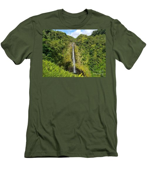 Akaka Falls Men's T-Shirt (Athletic Fit)
