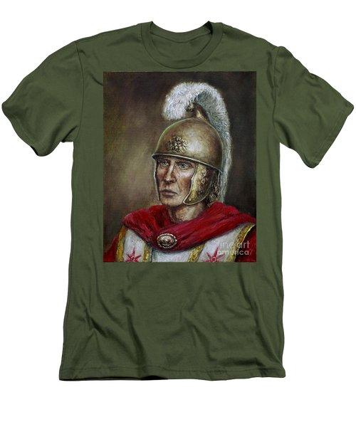 Alexander The Great Men's T-Shirt (Slim Fit) by Arturas Slapsys