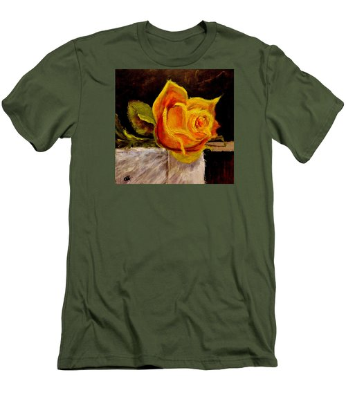 Men's T-Shirt (Slim Fit) featuring the painting Alone.. by Cristina Mihailescu
