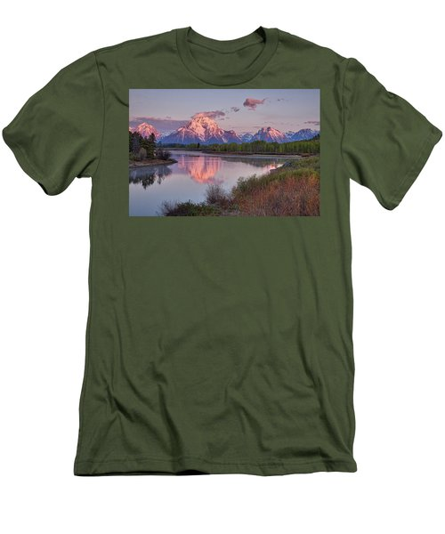 Alpenglow At Oxbow Bend Men's T-Shirt (Athletic Fit)