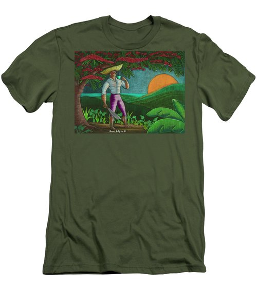 Amanecer En Borinquen Men's T-Shirt (Athletic Fit)