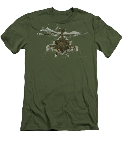 Apache Helicopter Men's T-Shirt (Slim Fit) by Roy Pedersen