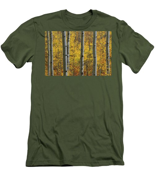 Men's T-Shirt (Slim Fit) featuring the photograph Aspen In Autumn At Mcclure Pass by Jetson Nguyen