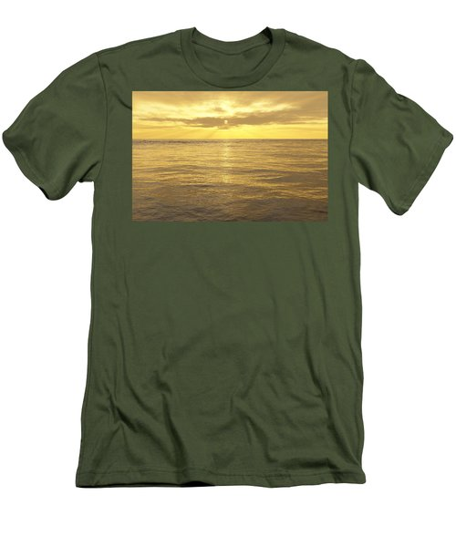 Men's T-Shirt (Slim Fit) featuring the digital art Ocean View by Mark Greenberg