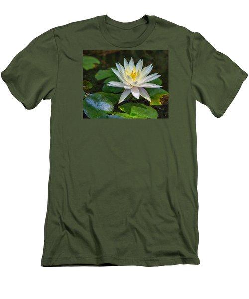 Beautiful Lotus Men's T-Shirt (Slim Fit) by Susi Stroud