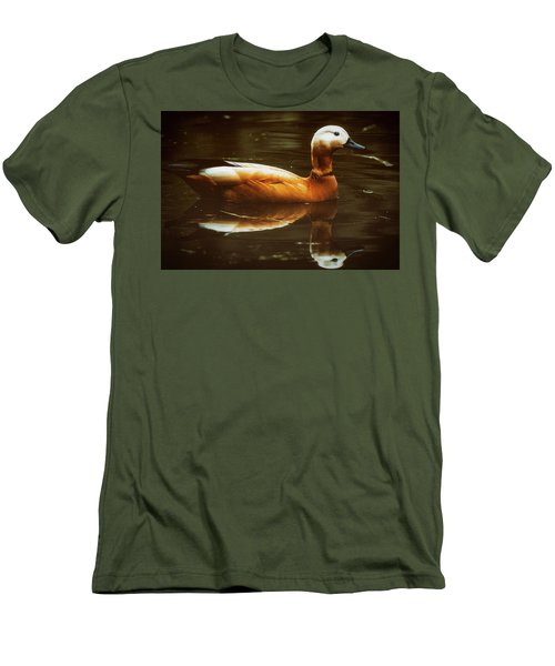 Men's T-Shirt (Slim Fit) featuring the photograph Beautiful Rust Goose by The 3 Cats