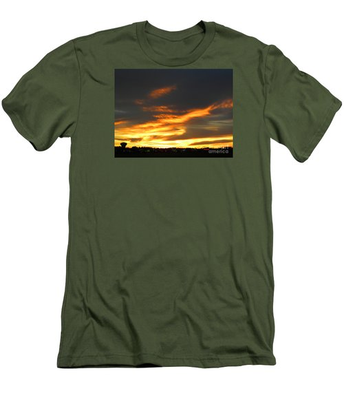 Blazing Carolina Sunset Men's T-Shirt (Athletic Fit)