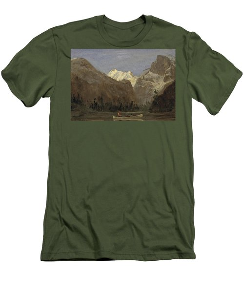 Boating Through Yosemite Valley With Half Dome In The Distance Men's T-Shirt (Athletic Fit)