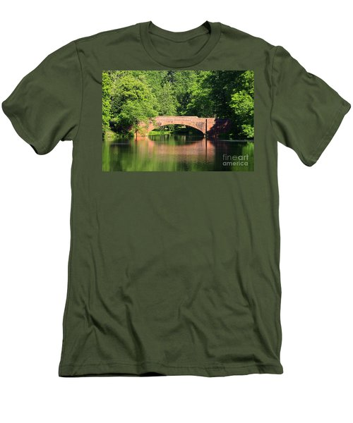 Bridge Reflection In The Spring Men's T-Shirt (Athletic Fit)