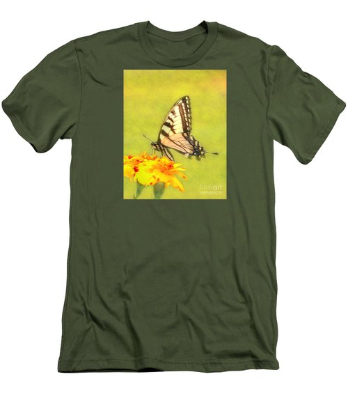 Butterfly Men's T-Shirt (Slim Fit) by Marion Johnson