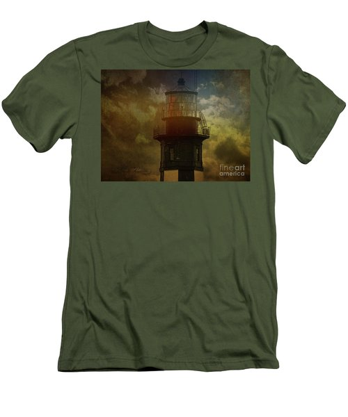 Cape Henry Lighthouse Men's T-Shirt (Slim Fit) by Melissa Messick