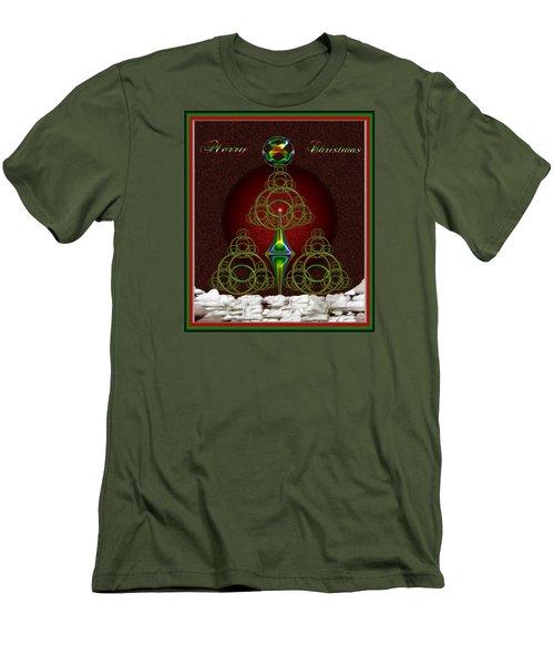 Christmas Greetings Men's T-Shirt (Slim Fit) by Mario Carini