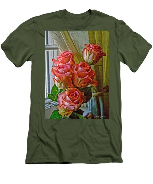 Men's T-Shirt (Slim Fit) featuring the photograph Cindy's Roses by Bonnie Willis