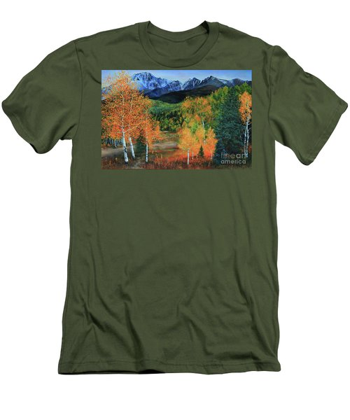 Colorado Aspens Men's T-Shirt (Slim Fit) by Jeanette French