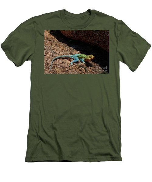 Colorful Lizard II Men's T-Shirt (Athletic Fit)