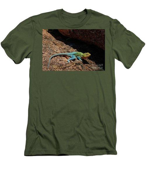 Colorful Lizard II Men's T-Shirt (Slim Fit)