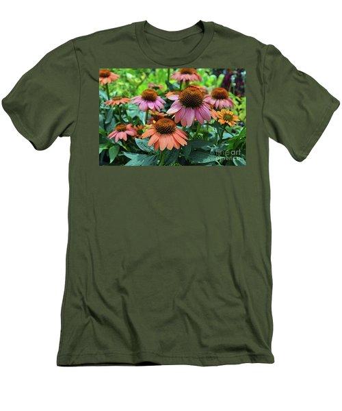 Coneflower  Men's T-Shirt (Slim Fit) by Eva Kaufman