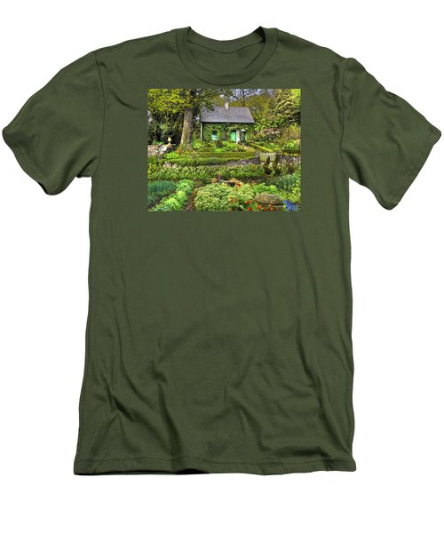 Cottage In The Green Men's T-Shirt (Athletic Fit)
