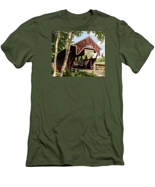 Covered Bridge Gift Shoppe Men's T-Shirt (Slim Fit) by Sherman Perry