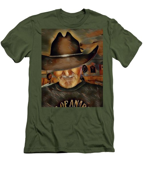 Men's T-Shirt (Slim Fit) featuring the digital art Cowboy by Robert Smith