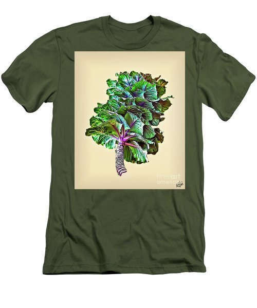 Men's T-Shirt (Slim Fit) featuring the photograph Decorative Cabbage by Walt Foegelle