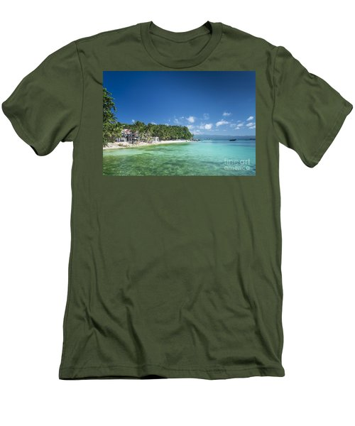 Diniwid Beach In Tropical Paradise Boracay Philippines Men's T-Shirt (Athletic Fit)