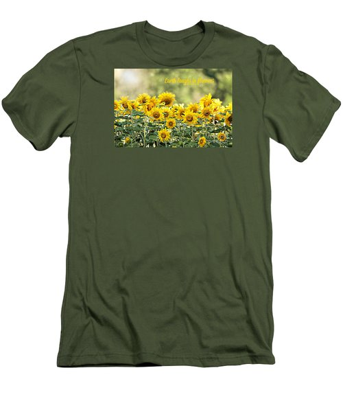 Earth Laughs In Flowers Men's T-Shirt (Slim Fit) by Lila Fisher-Wenzel