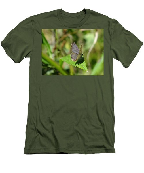 Eastern Tailed Blue Butterfly Men's T-Shirt (Athletic Fit)
