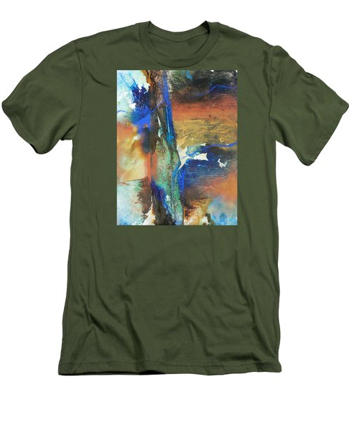 Electric And Warm Men's T-Shirt (Slim Fit) by Becky Chappell