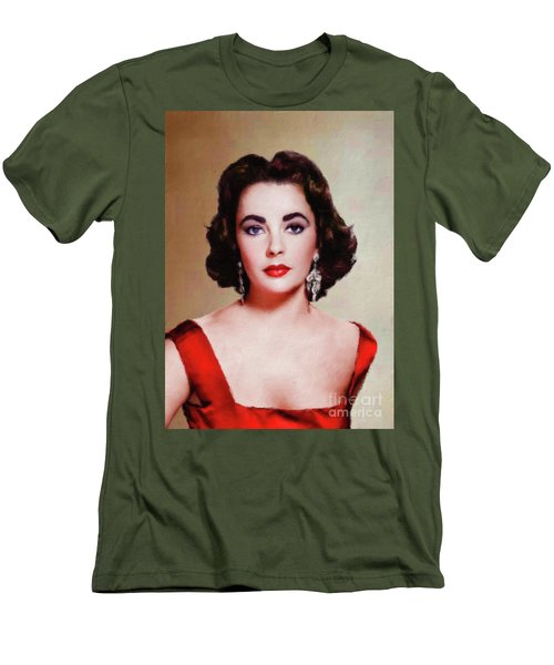 Elizabeth Taylor Hollywood Actress Men's T-Shirt (Athletic Fit)