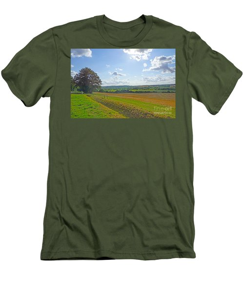 English Countryside Men's T-Shirt (Slim Fit) by Andrew Middleton