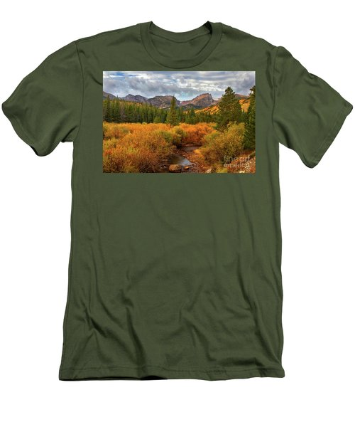 Fall In Rocky Mountain National Park Men's T-Shirt (Slim Fit) by Ronda Kimbrow