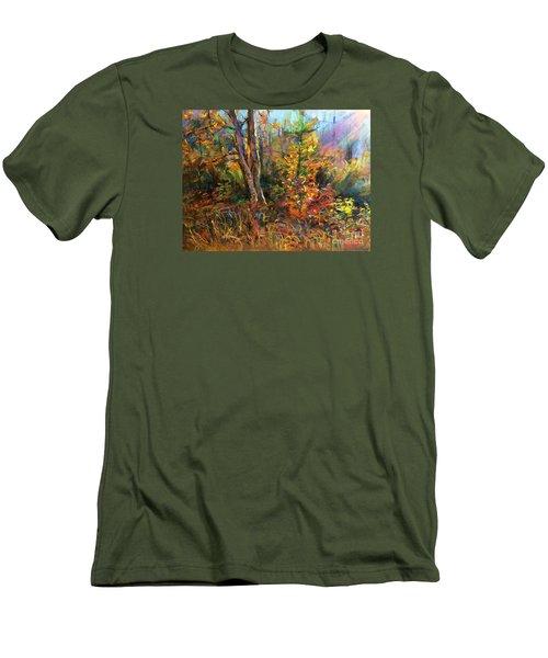 Fall  Men's T-Shirt (Slim Fit) by Jieming Wang