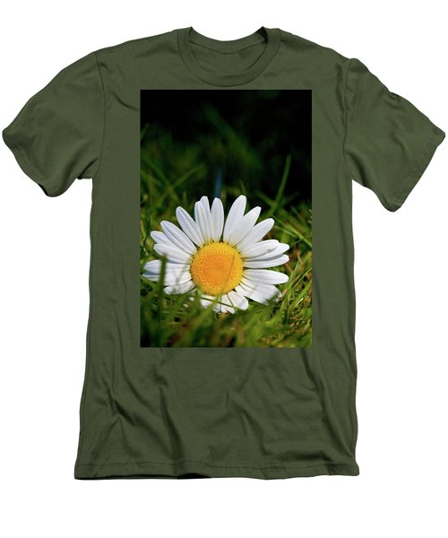 Men's T-Shirt (Slim Fit) featuring the photograph Fallen Daisy by Scott Holmes